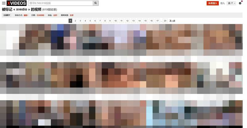 在《紐約時報》點名「Pornhub」含有大量爭議性愛影片的記者紀思道(Nicolas Kristof)又劍指另一個成人影片平台「XVideo」。(圖翻攝自「XVideo」)