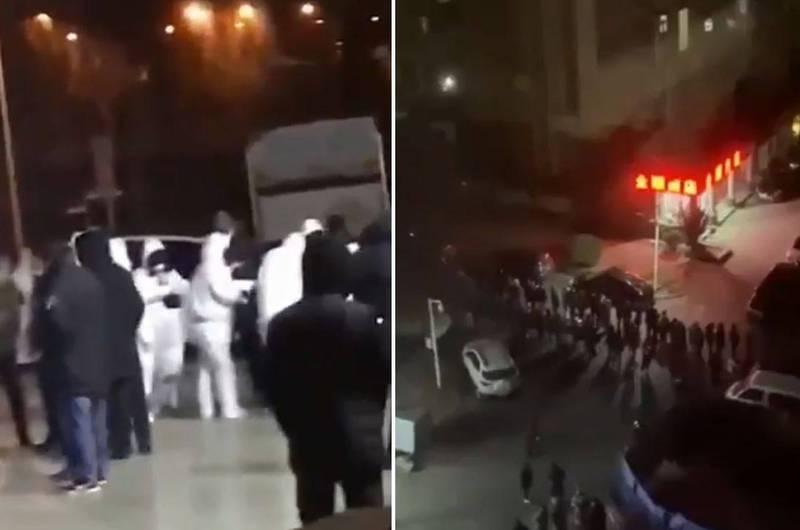 遼寧省大連市一夜之間增加4名無症狀感染者,引發大量民眾恐慌,當地更隨即漏夜進行檢測,這4例確診者密切接觸的區域也隨即被封鎖。(圖翻攝自推特)