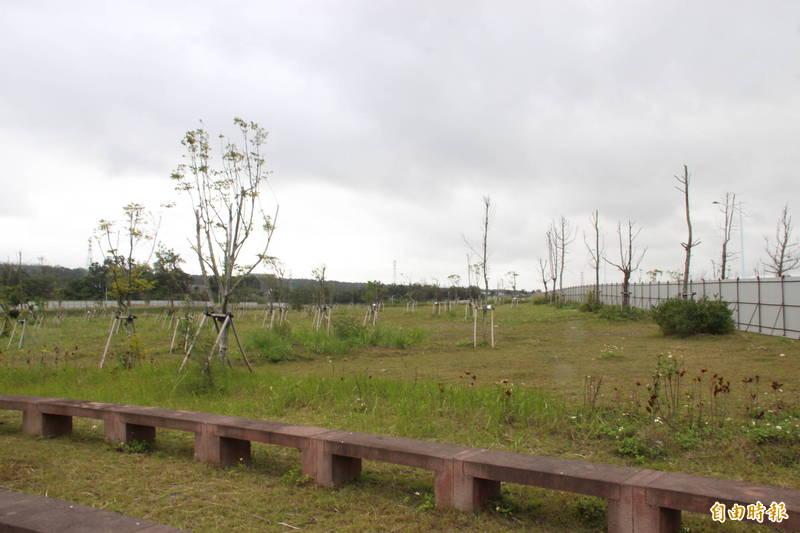 景觀公園預定地。(記者許倬勛攝)