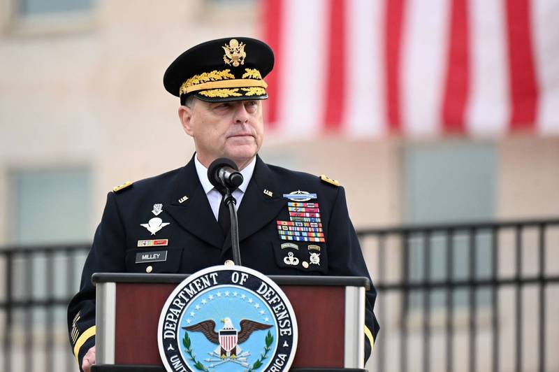 美國國防部參謀長聯席會議主席麥利本週遠赴卡達,與民兵組織塔利班代表會面,呼籲立即降低暴力衝突等級,圖為麥利。(路透資料照)