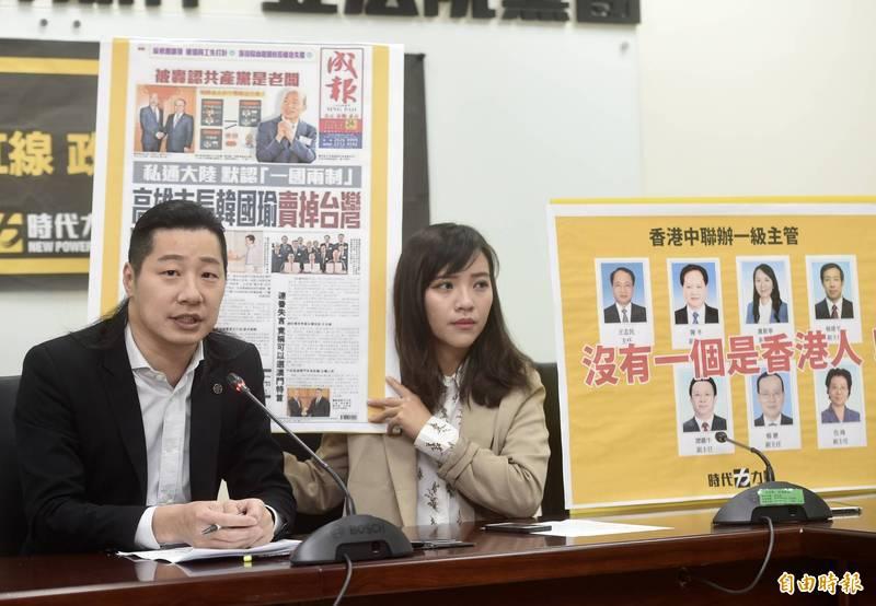 對於黃捷罷免案成立,林昶佐(左)表示對好友黃捷(右)非常不捨。(資料照,記者簡榮豐攝)