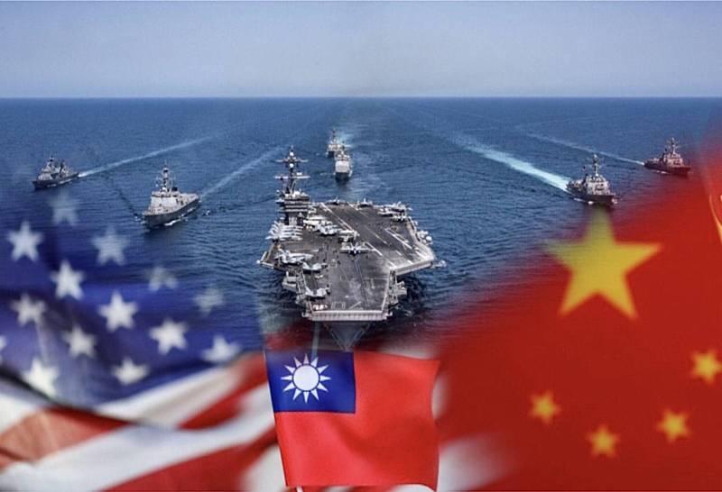 美國華府主流智庫之一的「大西洋理事會」12月做出「2021年的十大風險」預測,其中一個是「美中在台灣交鋒」。圖均為路透。(本報合成)