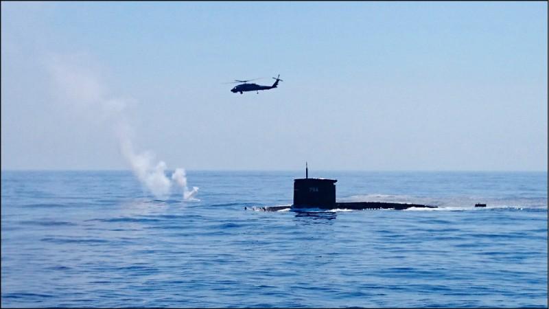 潛艦國造首艘艦的噸數與現役劍龍級潛艦相近。(資料照)