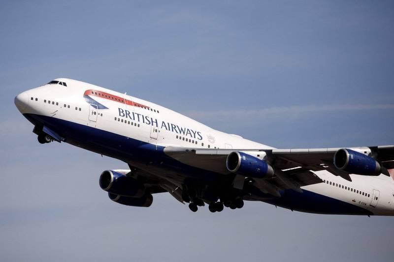 英國出現武漢肺炎變種病毒,目前已有超過10個國家禁止英國航班入境。英國航空客機示意圖。(法新社)