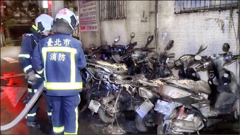 台大研究生點火燒機車外送箱上的一條線,未料造成6部機車毀損。 (資料照)
