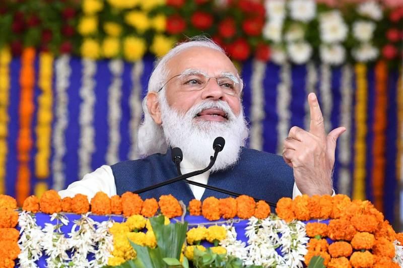 印度總理莫迪(見圖)今天與越南總理阮春福舉行視訊高峰會,他表示,將從長期和戰略角度考慮與越南的關係,維護印太地區和平、穩定和繁榮。(法新社資料照)