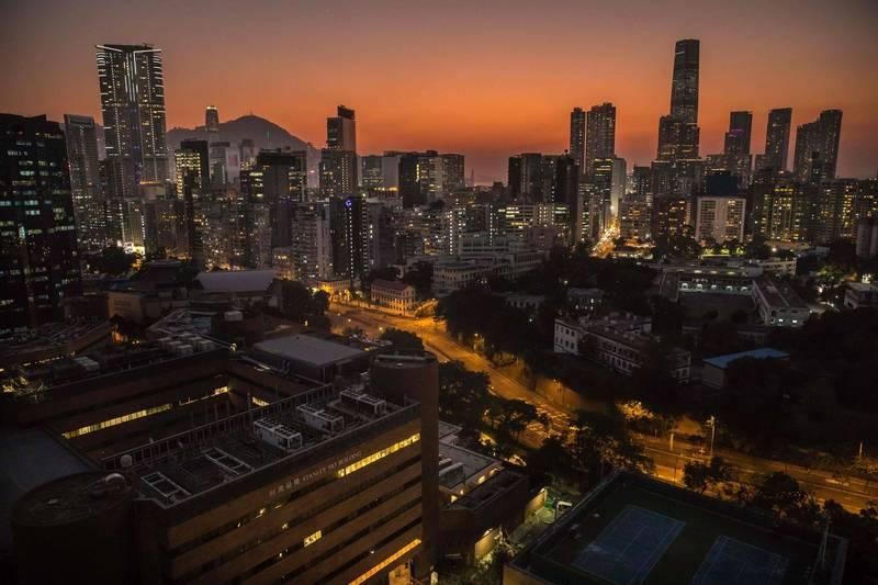 中國《今日頭條》發布22日北京停電通知。圖為中國北京市區夜景。(法新社檔案照)