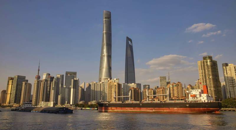 中國《今日頭條》發布22日上海停電通知。圖為中國上海。(歐新社檔案照)