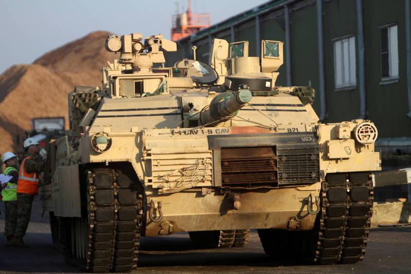 通用动力地面系统已与美国陆军签署价值近新台币1297亿元合约,为美军生产最新型M1A2 SEP V3艾布兰主力战车,图为M1A2主力战车。(欧新社资料照)(photo:LTN)