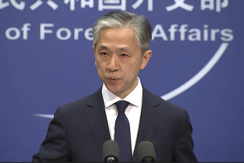 中国外交部发言人针对美国国会包裹通过「台湾保证法」一事,怒批美国坏中美合作大局。(美联社)(photo:LTN)