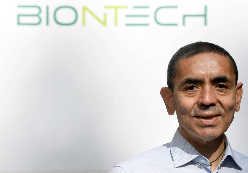 德國生技公司BioNTech執行長薩辛表示他們與輝瑞共同研發的疫苗能應付英國變種病毒。(路透)