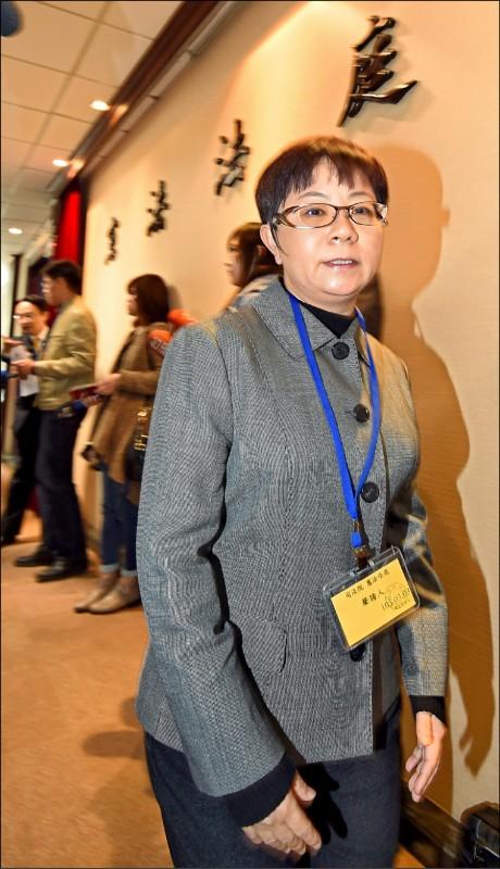 曾任台北市議員的的前國民黨主席馬英九辦公室主任賴素如,7年前向太極雙星開發團隊索賄1500萬元,判刑7年6月定讞。(資料照)