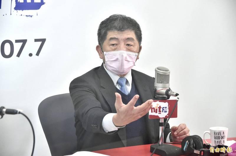 衛福部長陳時中(見圖)今24日接受「周玉蔻嗆新聞」節目專訪。(記者塗建榮攝)
