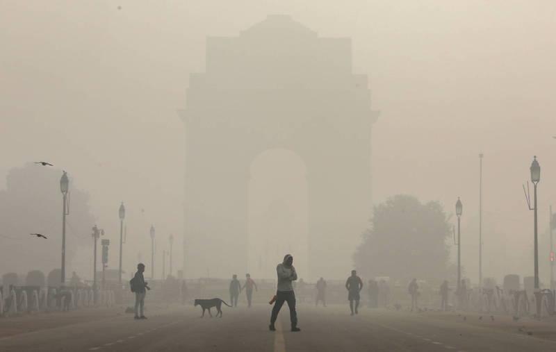 印度空氣品質惡化,最新研究顯示,2019年空污導致167萬人死亡。(歐新社資料照)
