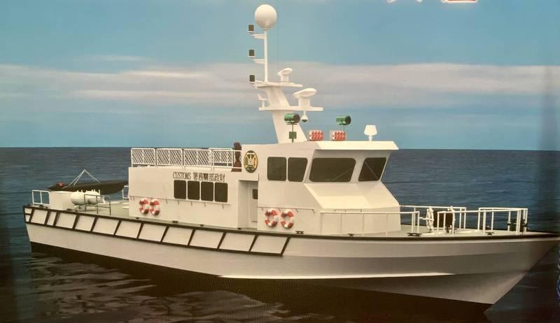 關務署新建100噸級緝私艇3D模擬圖。(記者洪臣宏翻攝)