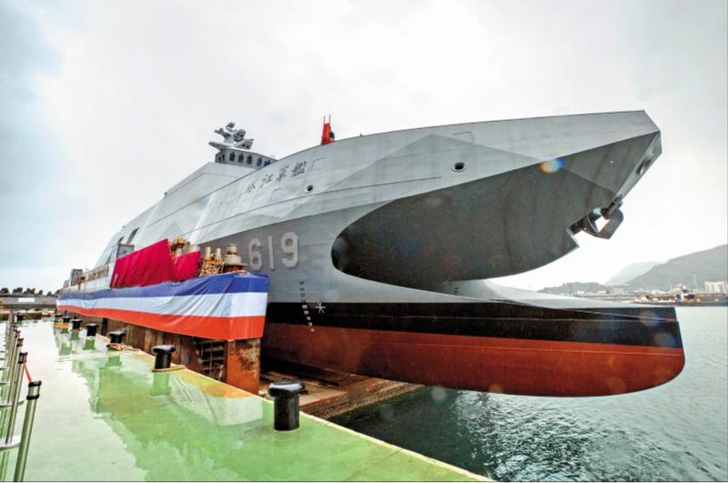 沱江級軍艦後續量產型的塔江軍艦。(圖:取自總統府官網)
