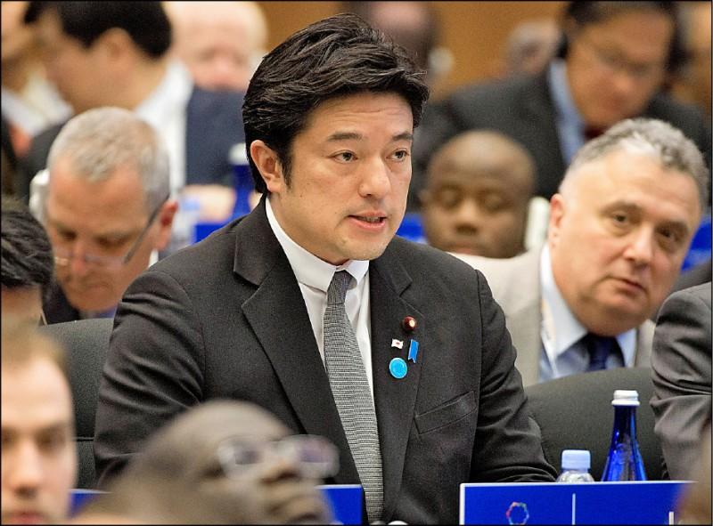 日本副防衛大臣中山泰秀再一次呼籲美國應堅定支持台灣。(路透檔案照)