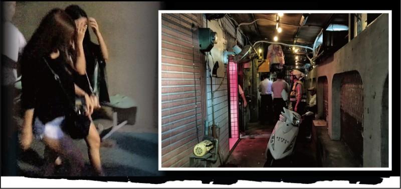 警方出動大批人馬前往張女開設的應召站(下圖)查緝,左圖為警 方將來我國賣淫的外籍女子帶回偵辦。 (記者吳昇儒攝、資料照)