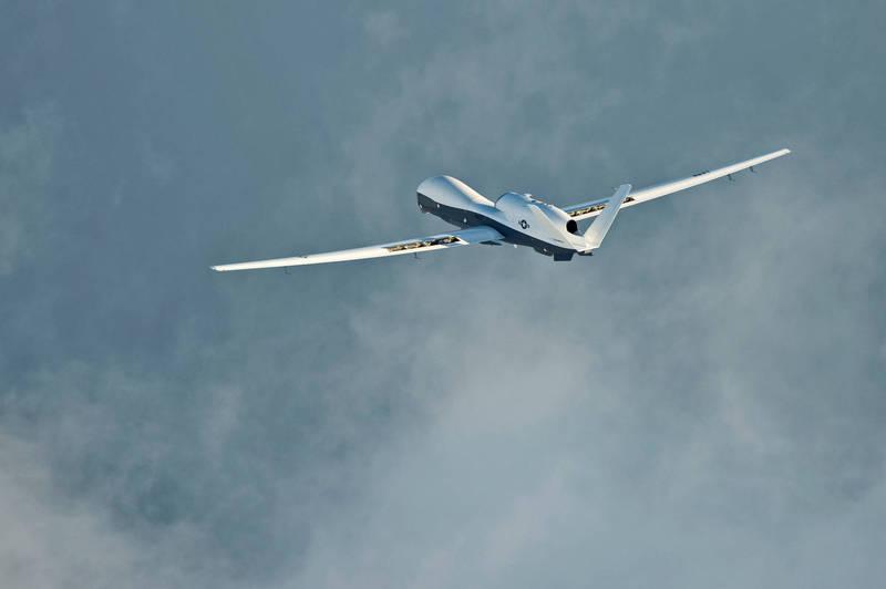美軍MQ-4C海神無人偵察機。(路透檔案照)