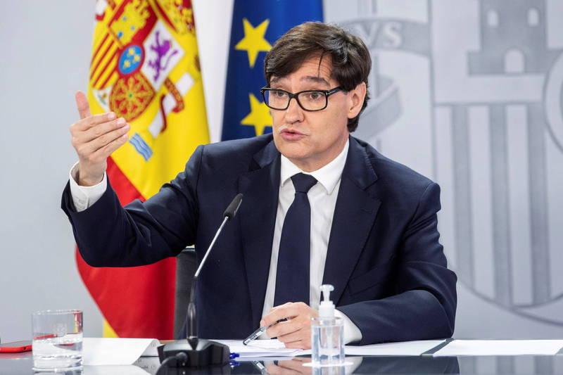 西班牙衛生部長伊利亞28日表示,西班牙將針對拒絕接種疫苗者進行登記,名單預計將會與歐盟共享。(歐新社)