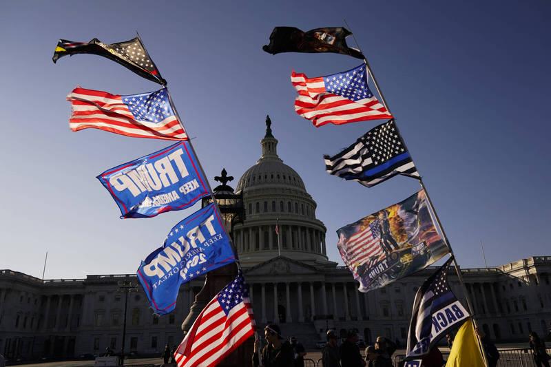 總統川普呼籲支持者,1月6日在華府進行最後一次示威。(美聯社資料照)