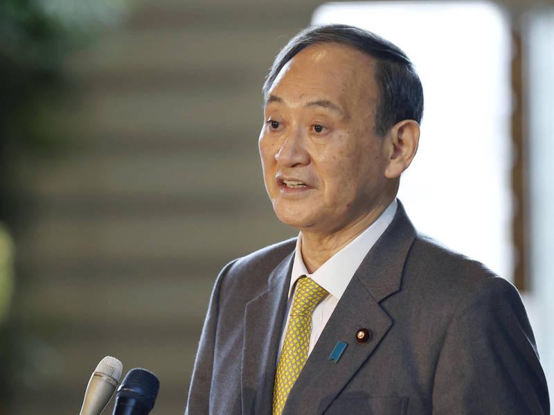 日本首相菅義偉今日發表新年演說,強調日本政府將控制疫情,讓東京奧運能在今年夏天安全、安心的登場。(美聯社)