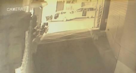 17歲葉姓少年清晨開車載友人行經土城裕民路段,被10多名惡煞攔下,不僅車被砸爛,背後還有擦挫傷。(記者闕敬倫翻攝)