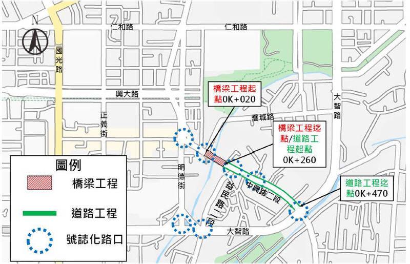 中市南門橋將自4日起封閉拓寛。(記者許國楨翻攝)
