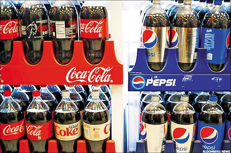 可口可樂連續第3年位列塑料污染排行榜首,百事可樂、雀巢均上榜。(彭博)
