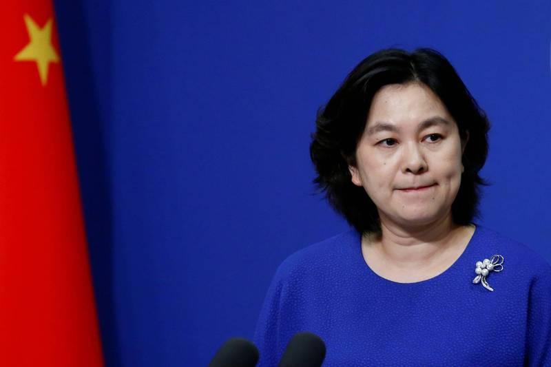 華春瑩(見圖)自稱「不敢相信」美國副國安顧問博明控病毒是從武漢病毒實驗室外洩。(路透檔案照)