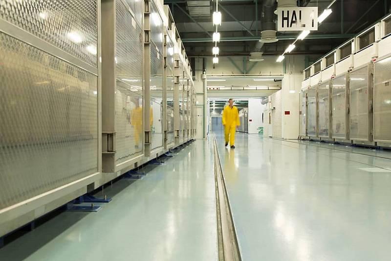 伊朗宣布,位於福爾多的核設施已展開將濃縮鈾提煉純度提升到20%的程序,圖為伊朗2019年11月曾公布福爾多核設施內部畫面。(法新社資料照)