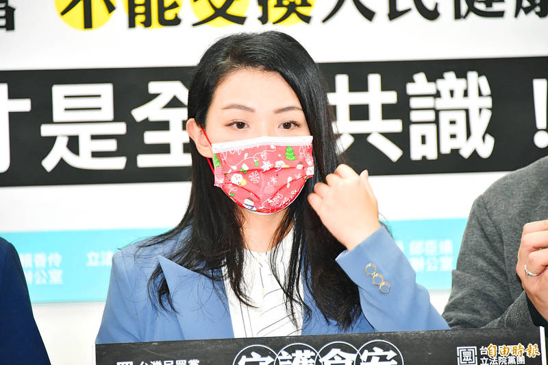 Taiwan People's Party Legislator Ann Kao attends a news conference on Dec. 23. Photo: Tu Chien-jung, Taipei Times