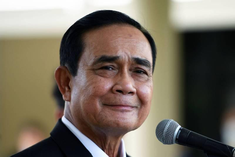 泰國總理帕拉育今央求民眾能好好待在家,避免國內疫情擴大。(路透)