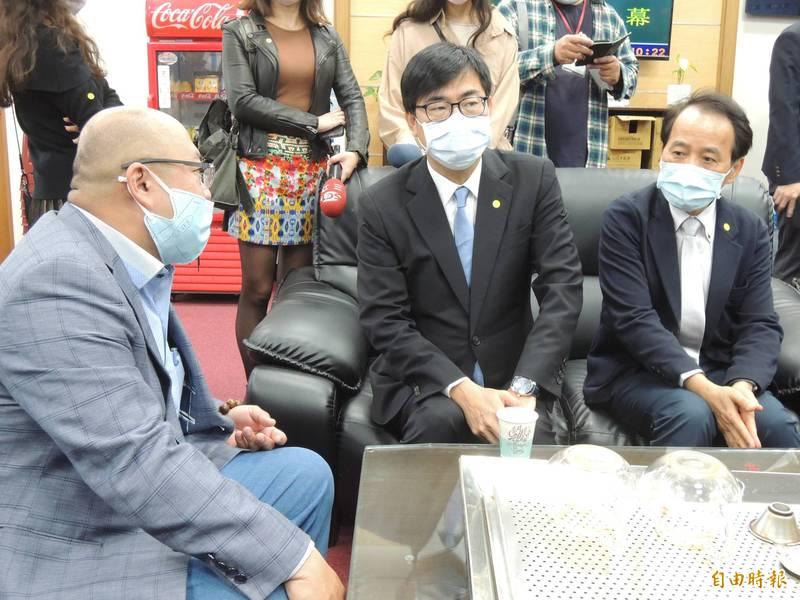 高雄市長陳其邁認為,黃捷在議會表現非常認真努力。(記者王榮祥攝)