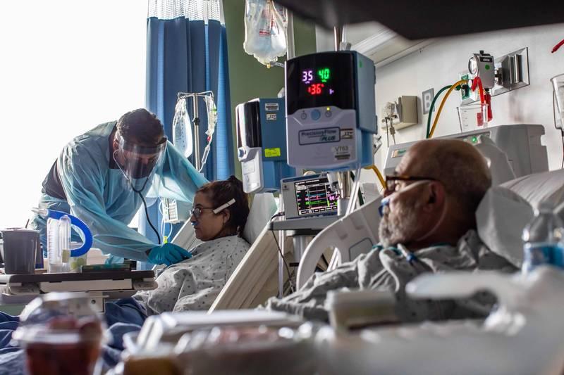 加州醫療資源吃緊,急診救護人員表示,如急救20分鐘後無恢復心跳將不再送醫,盼望能集中醫療資源。(法新社)