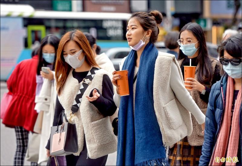 週四寒流抵台,北台灣最低溫恐直探七度,受降雨影響,體感最低溫甚至可能達零下一度。(記者林正堃攝)