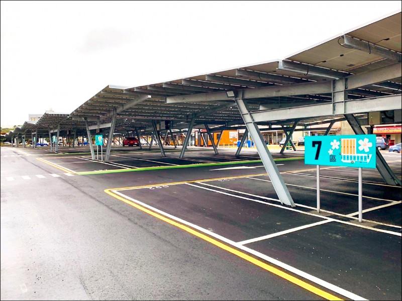 新竹工業區綠能智慧停車場啟用,提供377格車位。 (工業區服務中心提供,記者廖雪茹翻攝)