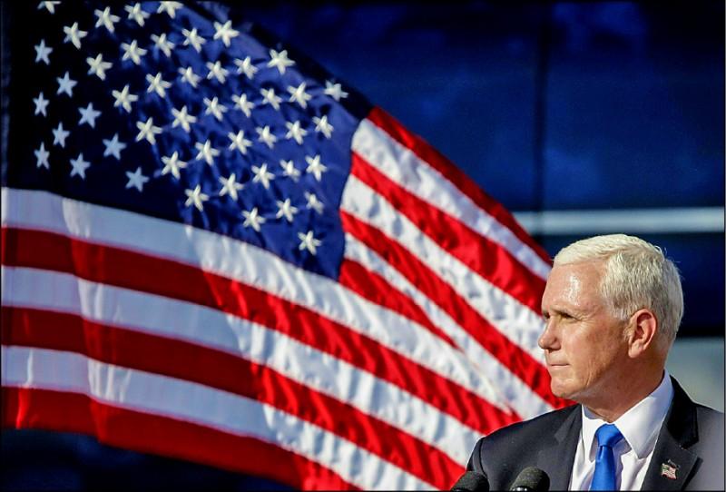 美國副總統彭斯六日將在國會主持決定下任總統當選人的各州選舉人票認證會議。(法新社檔案照)