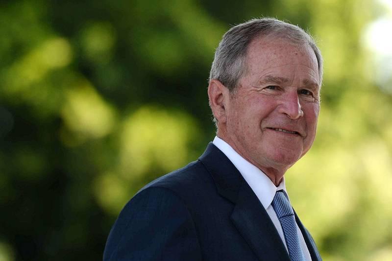 共和黨籍前總統小布希(見圖)發聲明譴責國會暴動事件,抨擊「這是『香蕉共和國』才會發生的選舉爭議,不是我們這個民主共和國」。(法新社)