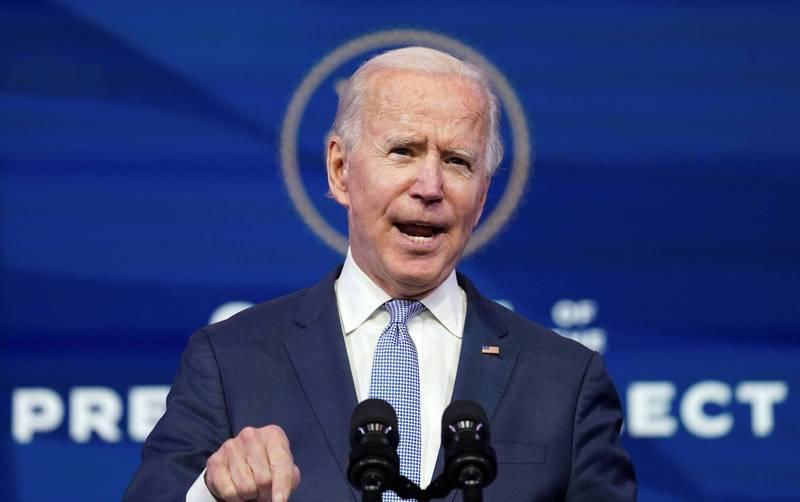 美國總統當選人拜登(Joe Biden)痛批川普支持者闖入國會大廈是「煽動叛亂」。(路透)