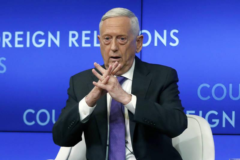 前美國國防部長馬提斯(Jim Mattis)透過聲明表示,譴責國會大廈暴動事件,並指出川普總統需為其煽動不認輸的言論負責。(美聯社)