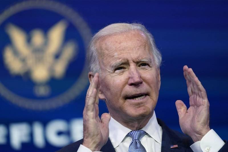 美國國會參眾兩院聯席會認證民主黨拜登(見圖)當選總統。(美聯社)