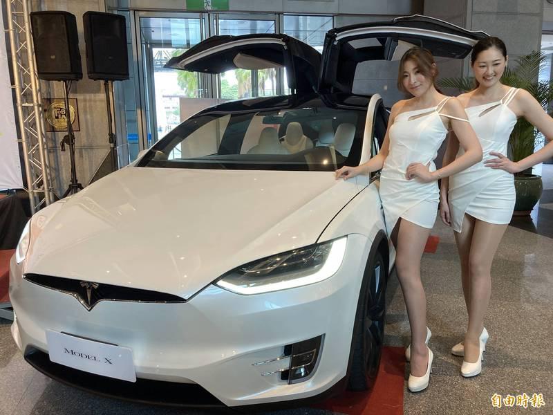 「新北振興168」最大獎335萬特斯拉Model X(如圖),由仍在就讀國小的鄭姓女童抽中大獎。(資料照)