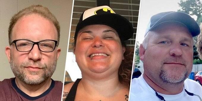 另外3名不幸在今次暴動事件喪生的川粉,左起為菲利普斯、博伊蘭和格里森,3人分別因中風、遭踩踏及心臟病發身亡。(圖擷取自推特)