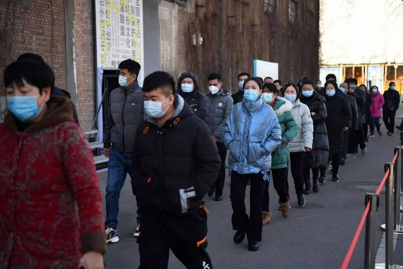 河北政府宣布,石家莊、邢台兩市人員非必要不出市,長途道路客運車輛暫停營運。(法新社)