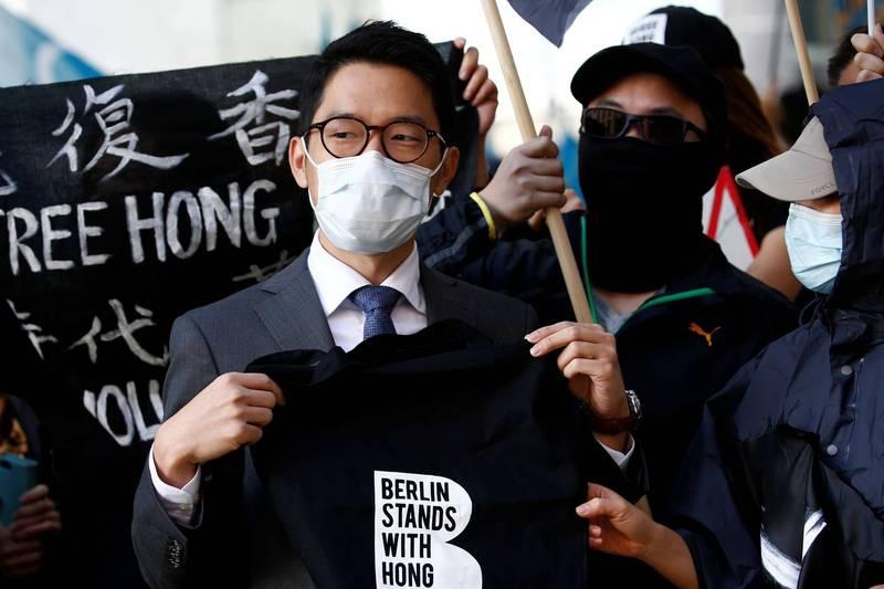 羅冠聰在《華盛頓郵報》撰文,呼籲國際社會為香港民主採取實際行動。(路透)