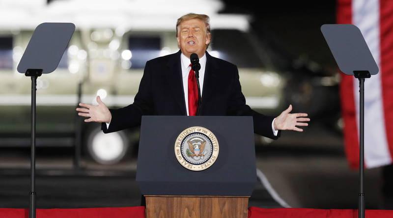 美總統川普遭批煽動支持者入侵國會。(歐新社)