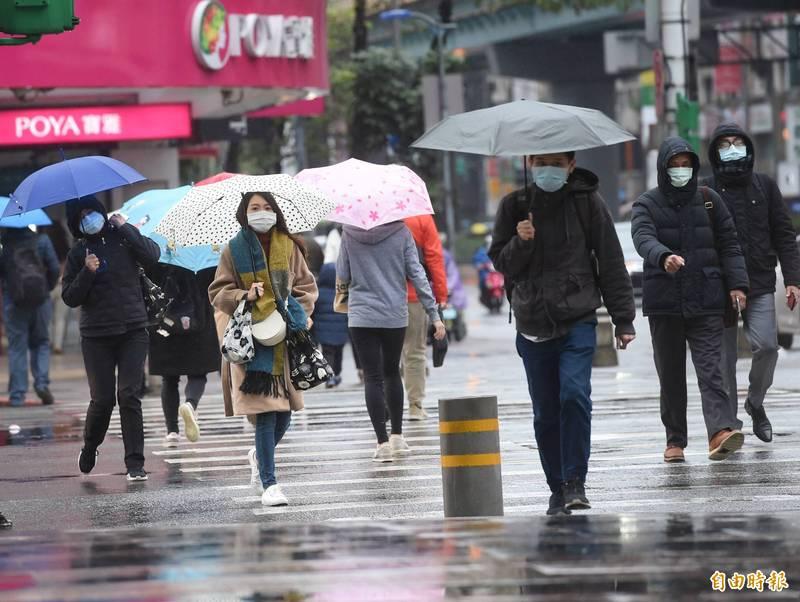 今日白天各地略為回溫,基隆北海岸、宜蘭及大台北出現局部短暫雨的機會增大。(資料照)