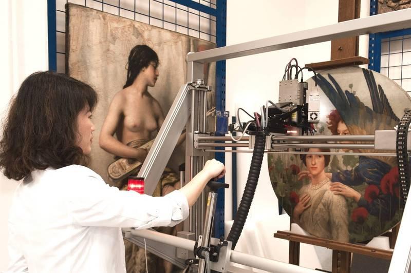 奇美博物館推出「窺物誌」網站,讓民眾了解畫作背後的故事。(記者吳俊鋒翻攝)
