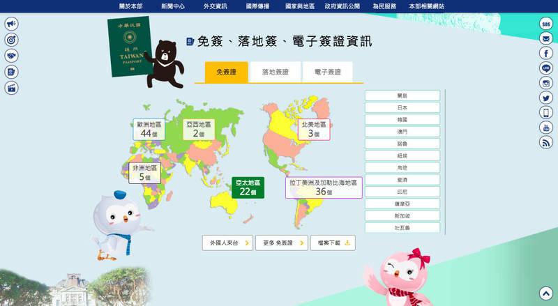 外交部今公布新版官網,採用年輕、活潑及多功能的風格,並加入豐富多元的台灣意象,以彰顯台灣特色。(翻攝自外交部新版官網)